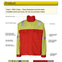 Veste ignifuge en coton pour les travailleurs