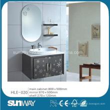 Morden Design Wall Hung Vanité en acier inoxydable avec miroir