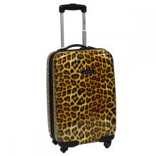 ABS & PC Leopard Print Luggage with Good Quality