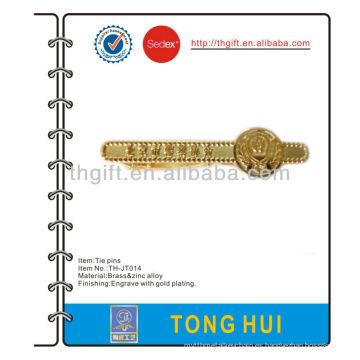 El lazo / clip / barra del metal de la asociación de la policía con la galjanoplastia de oro