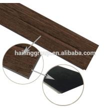 Click vinyl flooring plank with wood texture PVC click flooring plank