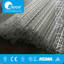 Bandeja de cabo clara de polonês da rede de arame da electro para a colocação do fio