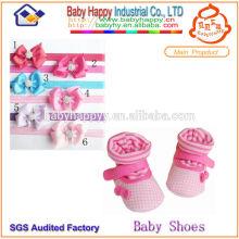 Calcetines de calzado de bebé de alta calidad y diadema