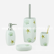 Sea Theme Ceramic Bathroom Set (WBC0647A)