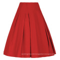 Grace Karin Women's High Stretchy Vintage Retro Red A-Line Short Skirt CL010451-2