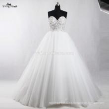 RSW909 China Los granos cristalinos para la boda Factory visten el vestido de bola