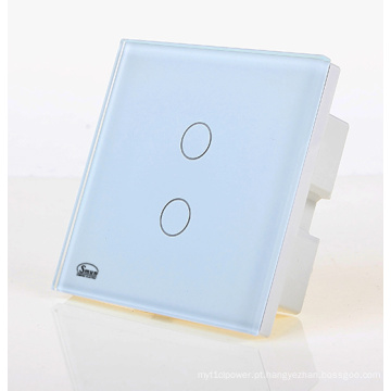 2 Swithes chaves da parede, interruptor usado casa, material do ABS da prova de fogo do interruptor do toque