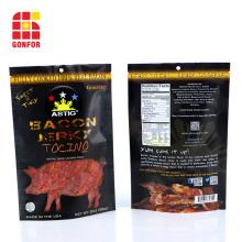Bacon Jerky Packaging Stand Up Pouch mit Reißverschluss
