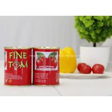 Turkish canned tomato paste tin