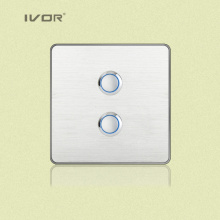 2 Gangs Lighting Switch Touch Panel Aluminum Alloy Material (RD-ST1000L2)