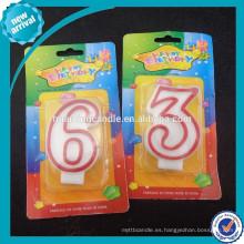 Huaming Venta al por mayor de cera de parafina coloridos numerales vela de cumpleaños / Velas de la torta de la letra