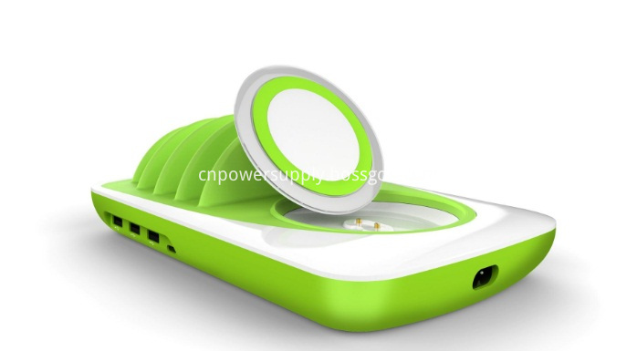 Desk Top 4 Usb Charging Station With Separate Wireless Charger