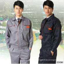 Men Uniform with Washable Monochrome Multi-Function Work Wear