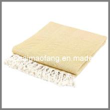 Manta de bambú tejido espiga