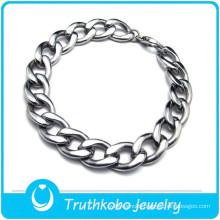 TKB-B0105 Fashion stylish handmade mexican silver jewelry 316L stianless steel chunky bracelets