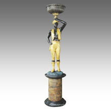 Große Figur Statue afrikanische Dekoration Bronze Skulptur Tpls-068/069