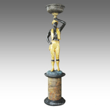 Grande Figure Statue Décoration Africaine Bronze Sculpture Tpls-068/069