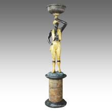 Большой Рисунок Статуя Африканского Украшения Бронзовая Скульптура Tpls-068 / 069