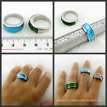 Stone Ring Stainless Steel Jewelry Gem Stone Rings