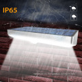 Luces solares al aire libre, 760 lúmenes 48 LED de luz de sensor de movimiento, marco de aleación de aluminio impermeable