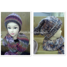 Winter/Fall Gradient Color Acrylic Knitted Hat and scarf sets