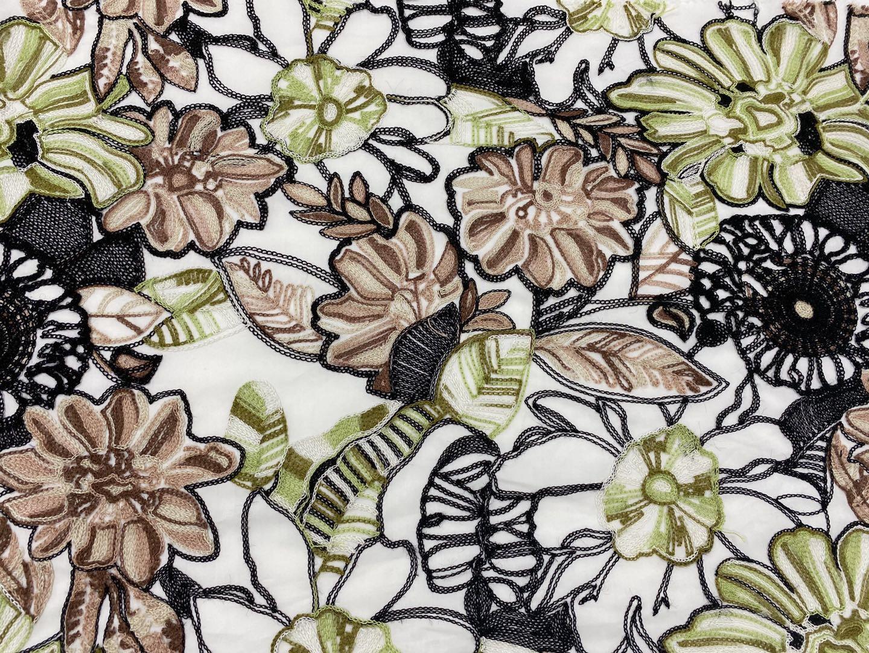 Poplin Embroidery Fabric