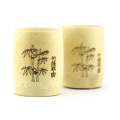 taza de bambú tallada de la taza de vino de la artesanía