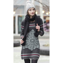 Ladies′ Cashmere Sweater with Pattern (1500002086)