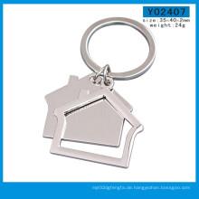 Fabrik-Herstellungs-Haus-leerer kundenspezifischer Logo-Schlüsselring (Y03792)