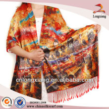 Digital Printed Brushed 100% Silk shawls pakistani
