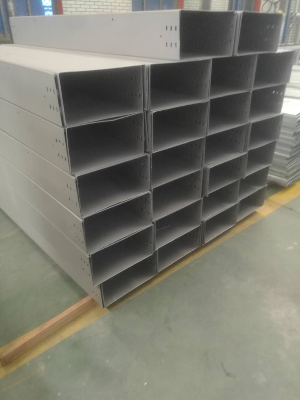 Factory spray paint cable tray