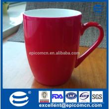 Perla brillante esmaltada nueva china de hueso taza roja