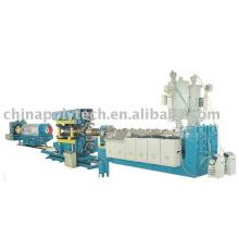 Chaîne de production ondulée de tuyau de double paroi de HDPE / PVC