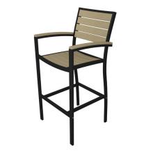 Polywood al aire libre de muebles de Bar taburete silla de jardín aluminio