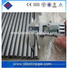 Tubo de aço inoxidável de diâmetro pequeno de parede grossa de alta precisão fabricado na China