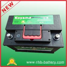 Premium Starter Lead Acid Maintenance Free Battery Car DIN75mf 12V75ah batterie de voiture en gros
