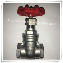 Válvula de fecho de rosca de aço inoxidável com Bsp / NPT 200wog
