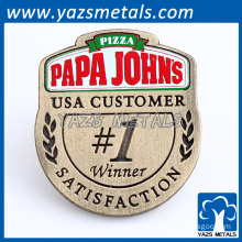 factory made phone number company name pin badge