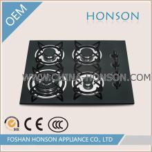 Novos produtos fogão de gás de ferro fundido de vidro temperado