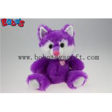 Cuddly Sitting Purple Plüsch Fox Tier als Kinder Spielzeug für Festival