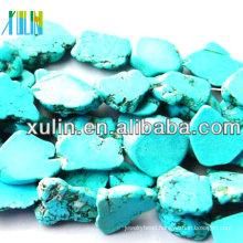 new product irregular shape flat back turquoise beads