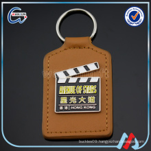 promotional customized metal car logo leather key chains