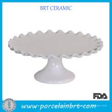 Белая горячая подставка для тортов свадебного торжества с ободком обода