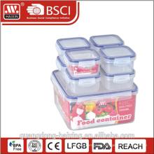 caixa de almoço lockable microondas