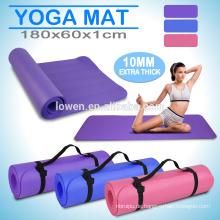 10mm Anti-Rutsch-EVA-Schaum-Boden-Spiel-Übungs-Yoga-Matte-Gymnastik-Trainings-Wolldecke-Auflage 180cm