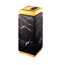 Marble and Stainless Steel Waste Bin for Lobby (YW0056)