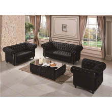 Pulling buckle fabric sofa set UK style Home Furniture