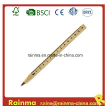Wooden Craft Ball Pen with Ruler Scale