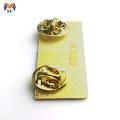Personalized Gold Metal ID Name badge Custom