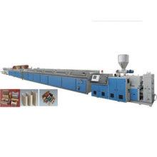 Línea de producción de perfiles de plástico PE de madera